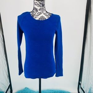 Lucky Brand blue thermal long sleeve pullover top